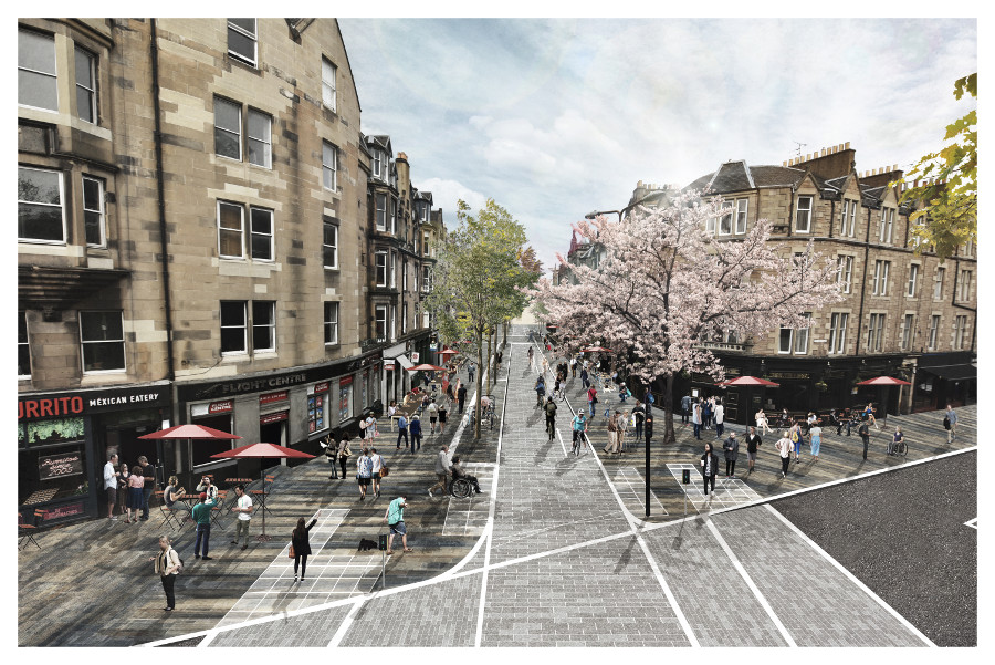 A visualisation of the proposed designs at Forrest Road