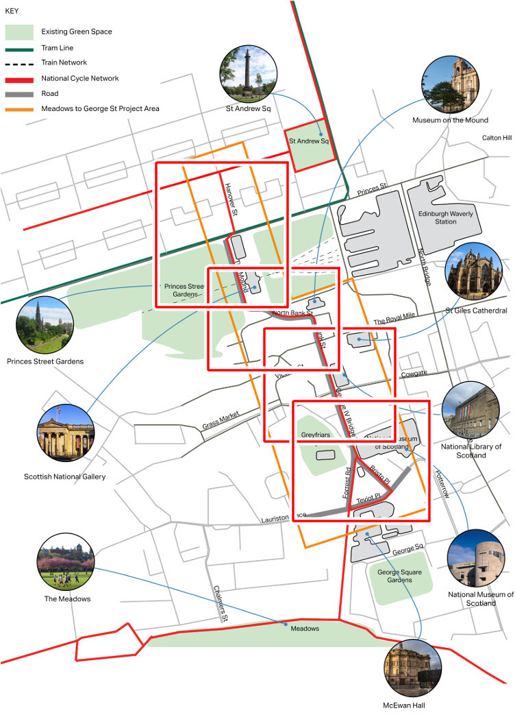 Illustrative Route Plan Meadows to George Street cycling CEC